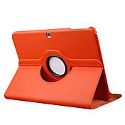 Para Funda Samsung Galaxy con Soporte / Flip / Rotación 360º Funda Cuerpo Entero Funda Un Color Cuero Sintético Samsung Tab 3 10.1