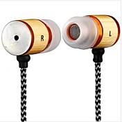 auriculares-dt mb057ear con conector de 3,5 mm de micrófono para iphone / htc / material de bambú samsung yafox ®