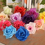 6 Piezas 1 Rama Seda Plástico Rosas Flor de Mesa Flores Artificiales