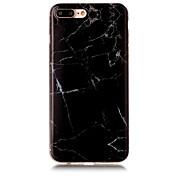 Para IMD Funda Cubierta Trasera Funda Mármol Suave TPU AppleiPhone 7 Plus / iPhone 7 / iPhone 6s Plus/6 Plus / iPhone 6s/6 / iPhone