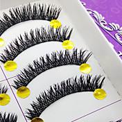 속눈썹 속눈썹 인조 속눈썹 눈 두꺼운 머리에 볼륨을 준 수공 섬유 Black Band 0.10mm 10mm