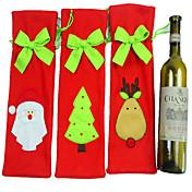 3PCS 산타 클로스 크리스마스 장식은 샴페인 와인 병 와인 세트 와인 가방 선물 가방 세트 넥타이
