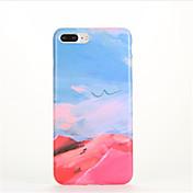 용 패턴 케이스 뒷면 커버 케이스 풍경 소프트 TPU 용 Apple 아이폰 7 플러스 아이폰 (7) iPhone 6s Plus iPhone 6 Plus iPhone 6s 아이폰 6