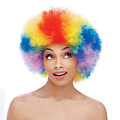 인조 합성 가발 캡 없음 중 컬리 무지개 흑인 가발 흑인여성 제품 코스플레이 가발 의상 가발