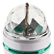 3W E26/E27 LED Λάμπες Σφαίρα 3 LED Υψηλης Ισχύος 270 lm RGB Ενεργοποίηση Ήχου AC 85-265 V