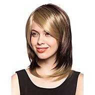 Syntetisk paryk med kort lyst hår