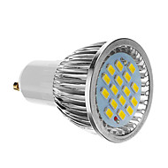 4W GU10 LED 스팟 조명 16 SMD 5730 350-400 lm 차가운 화이트 AC 85-265 V