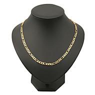 Ανδρικά Κολιέ με Αλυσίδα Κοσμήματα Χαλκός Επιχρυσωμένο Γέμιση χρυσού Χιπ-Χοπ Κλασσικά κοστούμι κοστουμιών Κοσμήματα Για Πάρτι Καθημερινά