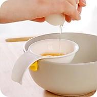 mini munankeltuainen valkoinen erotin silikonilla haltija keittiö työkalu muna jakaja