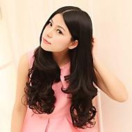 fsahion cabelo natural, resistente de alta temperatura e longo ondulado grampo na extensão do cabelo com cinco clipes