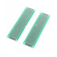 2 x 8cm διπλής όψης ίνες γυαλιού πρωτοτύπων PCB καθολική breadboard (2 τμχ)