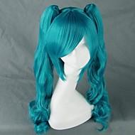 Cosplay Parykker Vokaloid Hatsune Miku Blå Medium Anime / Videospil Cosplay Parykker 75 CM Varmeresistent Fiber Kvindelig