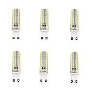 4w g9 οδήγησε φώτα καλαμποκιού 72 smd 2835 350-400 lm ζεστό λευκό δροσερό λευκό τιμόνι ac 220-240v 6 τεμ