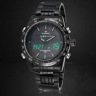 NAVIFORCE Herre Sportsklokke Armbåndsur Digital Watch LED Kalender Kronograf Vannavvisende Dobbel Tidssone alarmQuartz Digital Japansk