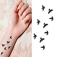 타투 스티커 - Non Toxic/허리 아래/Waterproof - 애니멀 시리즈 - 아이/아동/여성/남성/어른/Teen - 블랙/핑크/멀티 컬러 - 종이 - 1 pc - 6*10.5cm (2.36*4.13in) - Bird