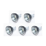 5W GU10 LED 스팟 조명 MR16 1 COB 450 lm 따뜻한 화이트 / 차가운 화이트 / 내추럴 화이트 밝기 조절 AC 220-240 / AC 110-130 V 5개