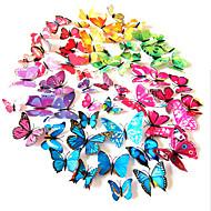 3d pvc színes szimuláció pillangó falimatrica 12db / szett