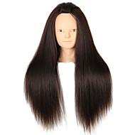 yaki syntetisk hår salon kvindelige mannequin hoved ingen make-up
