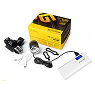 LED taskulamput Pyöräilyvalot Polkupyörän etuvalo Polkupyörän jarruvalo LED Cree XM-L L2 Pyöräily Vedenkestävä mobiili virtalähde Helppo