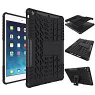 Für Hüllen Cover Stoßresistent mit Halterung Rückseitenabdeckung Hülle Einheitliche Farbe Hart Silikon für AppleiPad (2017) iPad Air 2 Pro10.5