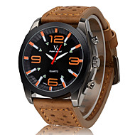 V6 Herren Militäruhr Armbanduhr Quartz Japanischer Quartz Leder Band Schwarz Braun Khaki Gelb Braun Rot Blau Khaki