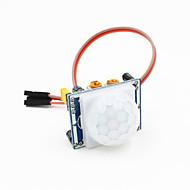 pyroelektrisk infrarød pir bevægelsessensor detektor modul m / 3-polet kabel til Arduino - blå + hvid
