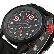 V6 Herren Armbanduhr Quartz Japanischer Quartz Silikon Band Schwarz Weiß Schwarz Blau