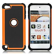 dual afneembare kunststof en siliconen case voor ipod touch 5 (verschillende kleuren)