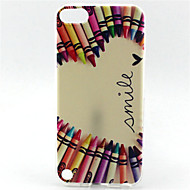 potlood glimlach painting patroon TPU zachte hoes voor ipod touch 5 contact 6