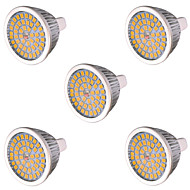 7W GU5.3 (MR16) LED-spotlampen MR16 48 SMD 2835 750-800 lm Warm wit Koel wit Decoratief AC 85-265 AC 12 V 5 stuks