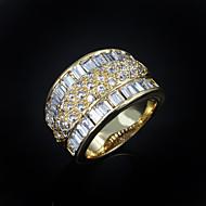 Női Karikagyűrűk jelmez ékszerek Cirkonium Arannyal bevont Ékszerek Kompatibilitás Esküvő Parti Napi Hétköznapi