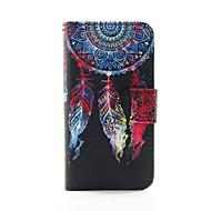 kleurrijke droom pu lederen portemonnee full body case voor de ipod touch 5/6
