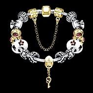 Női Lánc & láncszem karkötők Elbűvölő karkötők Egyedi jelmez ékszerek Divat Strassz Fesztivál/ünnepek Ezüstözött Ékszerek Golyó Ékszerek