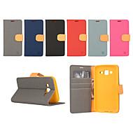 Mert Samsung Galaxy tok Pénztárca / Kártyatartó / Állvánnyal / Flip Case Teljes védelem Case Egyszínű Műbőr SamsungXcover 3 / J7 / J5 /