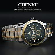 CHENXI® Herre Armbåndsur Quartz Japansk Quartz Afslappet Ur Rustfrit stål Bånd Sølv Guld Hvid Sort