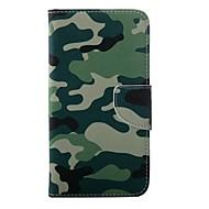 Voor Samsung Galaxy S7 Edge Portemonnee / Kaarthouder / met standaard / Flip hoesje Volledige behuizing hoesje Camouflage Kleur PU-leer