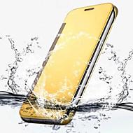 For Samsung Galaxy S7 Edge Belægning Flip Transparent Etui Heldækkende Etui Helfarve PC for Samsung S7 edge S7 S6 edge plus S6 edge S6 S5