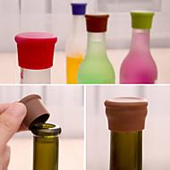 캔디 컬러 실리콘 병 마개 신선한 맥주 식품 학년 코르크 양념병 임의의 색상