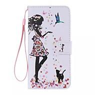 de vogel meisje schilderde pu telefoon geval voor ipod touch5 / 6