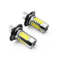 2kpl h3 h4 h7 h8 h 11 1156 1157 7,5 W 700lm 5 x tähkä led 700lm 6500K valkoista valoa johti auton valonheittimien (DC10 ~ 24V)