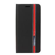Varten Samsung Galaxy kotelo Korttikotelo / Tuella / Flip Etui Kokonaan peittävä Etui Linjat / aallot Tekonahka Samsung S7 edge / S7