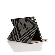 9,7 tuuman ruutukaava tekstiili- ja nahka kotelo jalustalla iPad pro 9.7 (eri värejä)