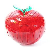 Palapelit 3D palapeli Lasiset palapelit Rakennuspalikoita DIY lelut Apple ABS Hopea Rakennuslelu