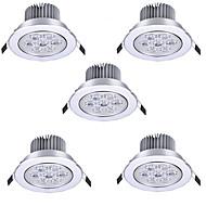 7W Ugradbena svjetla Ugradbena rasvjeta 7 Visokonaponski LED 750 lm Toplo bijelo Hladno bijelo AC 85-265 V 5 kom.