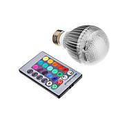 3w e26 / e27 levou globo lâmpadas integrar led rgb controle remoto ac 85-265 v