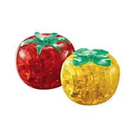 Palapelit 3D palapeli / Lasiset palapelit Rakennuspalikoita DIY lelut Tomaatti ABS Valkoinen / Hopea  Rakennuslelu