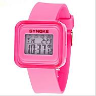 SYNOKE Barn Sportsklokke Armbåndsur Digital Watch LCD Kalender Kronograf Vannavvisende alarm Selvlysende Digital Gummi Band Blå Rosa Gul