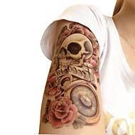 방수 임시 문신 큰 팔 가짜 전송 문신 스티커 섹시 스프레이