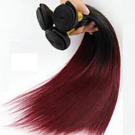 1 parça düz insan saçı örgüleri brazilian doku insan saçı örgüleri düz