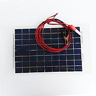 zdm® 10w 12v çıkış 0.65a monokristal silisyum güneş paneli (dc12-18v)